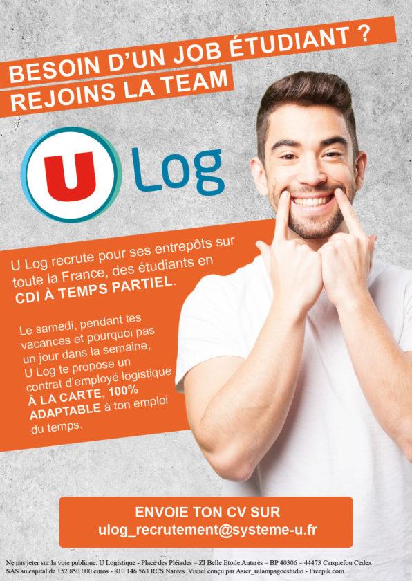 U Log recrute des étudiants en CDI à temps partiel